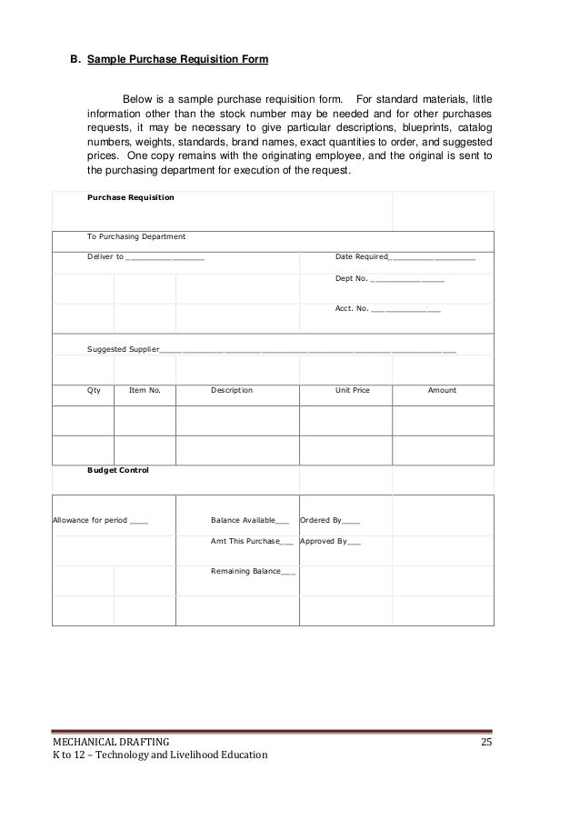 Requisition Form Example. Material Requisition Form Example Sample