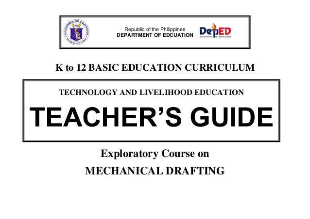 K To 12 Mechanical Drafting Teacher S Guide