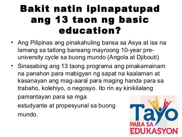 K to 12 presentation tagalog vesion Slide 3