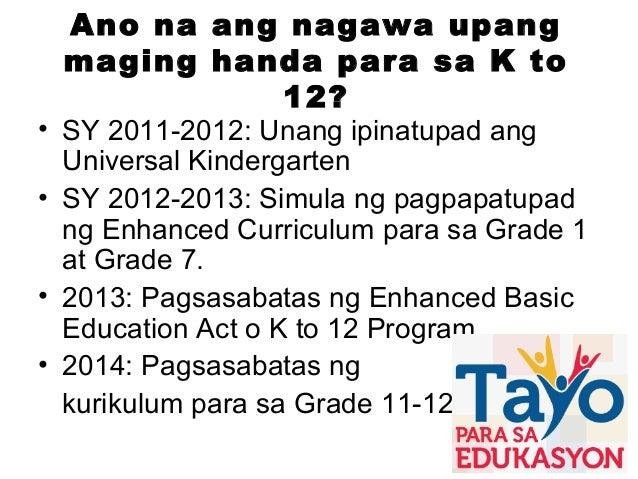 Ngayong 2015, patuloy tayong naghahanda para sa malawakang implementasyon ng Senior High School sa SY 2016-2017.