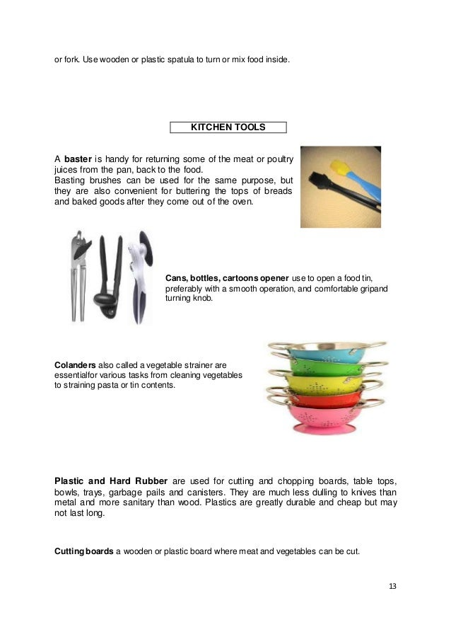 Kitchen Utensils List And Their Functions Cooking Tools