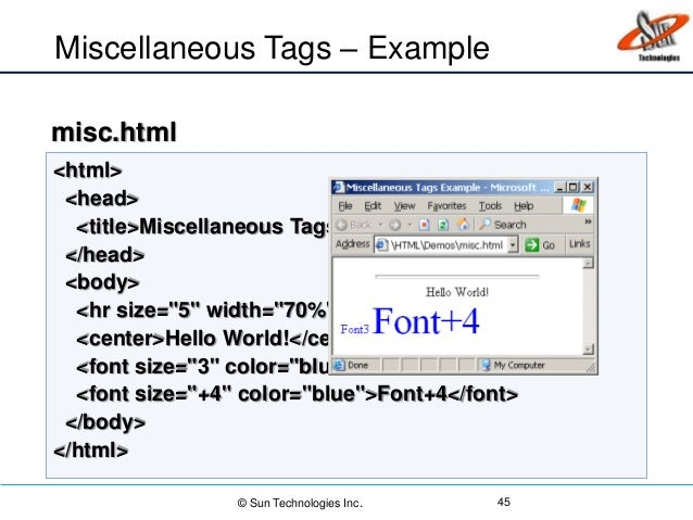 HTML, CSS and Java Scripts Basics