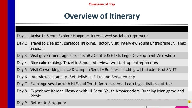 presentation of our korean technopreneurship trip in sep