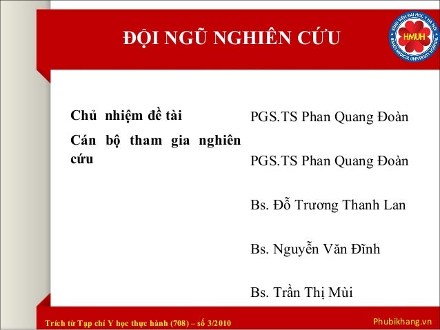 Kết quả nghiên cứu Phụ Bì Khang tại đại học Y Hà Nội Slide 3