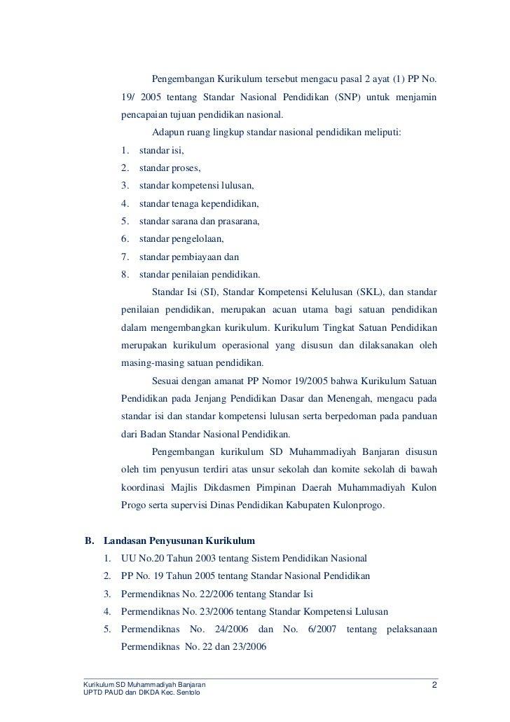 KTSP SD Muhammadiyah Banjaran Slide 2