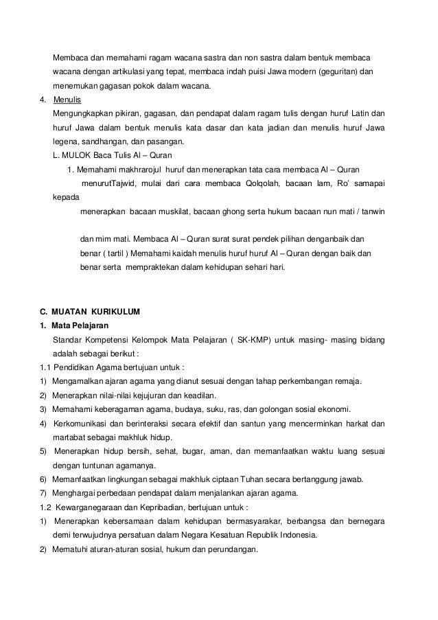 Ktsp Smp Negeri 2 Tenggarang