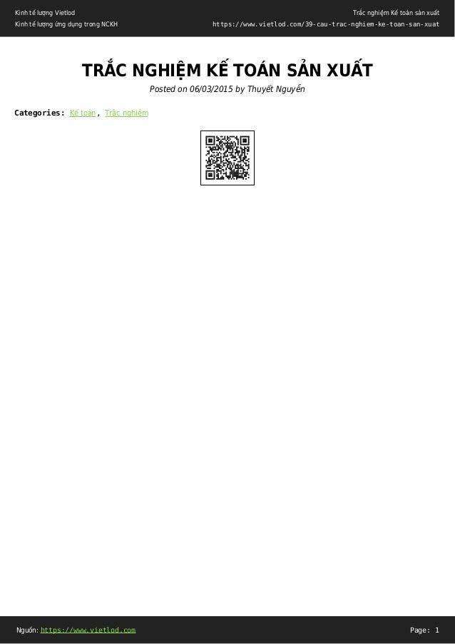 Kinh tế lượng Vietlod Kinh tế lượng ứng dụng trong NCKH Trắc nghiệm Kế toán sản xuất https://www.vietlod.com/39-cau-trac-n...