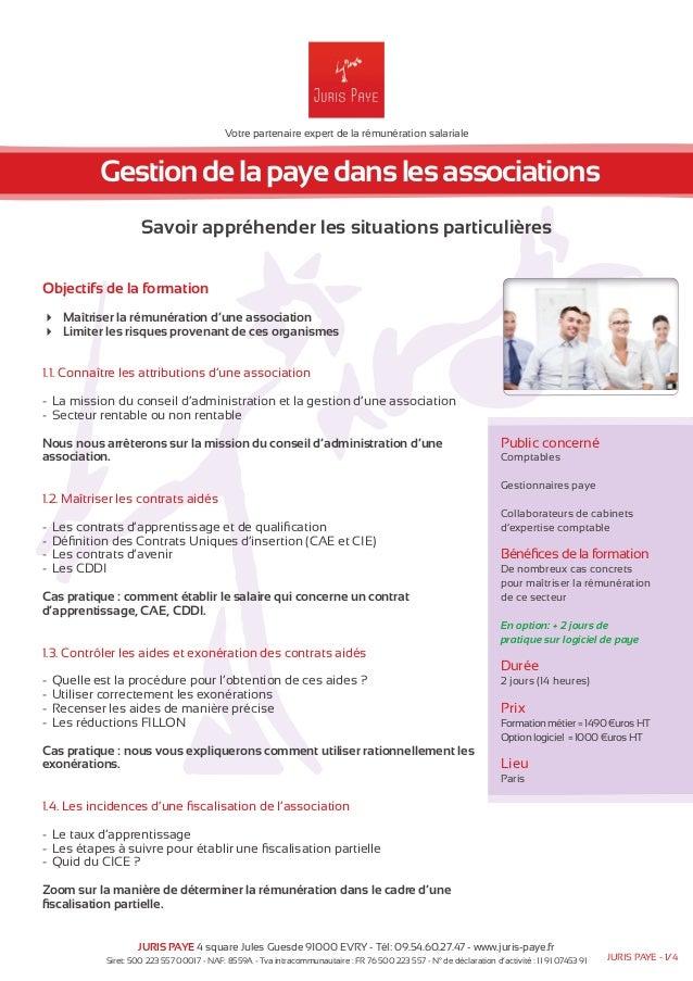 Votre partenaire expert de la rémunération salariale  Gestion de la paye dans les associations  Savoir appréhender les sit...