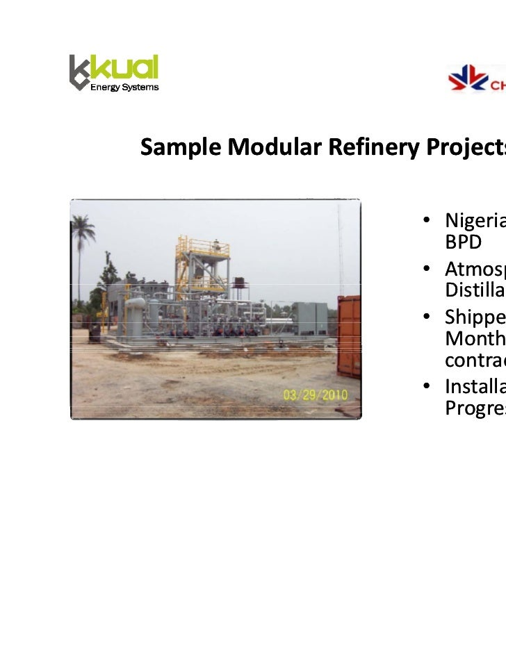 Kuai modular refineries