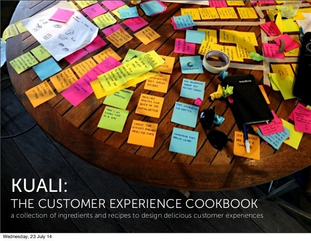 KUALI: THE CUSTOMER EXPERIENCE COOKBOOK a collection of ingredients and recipes to design delicious customer experiences W...