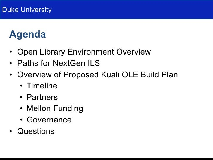 Kuali OLE Overview at Charleston Conference 09 Slide 2