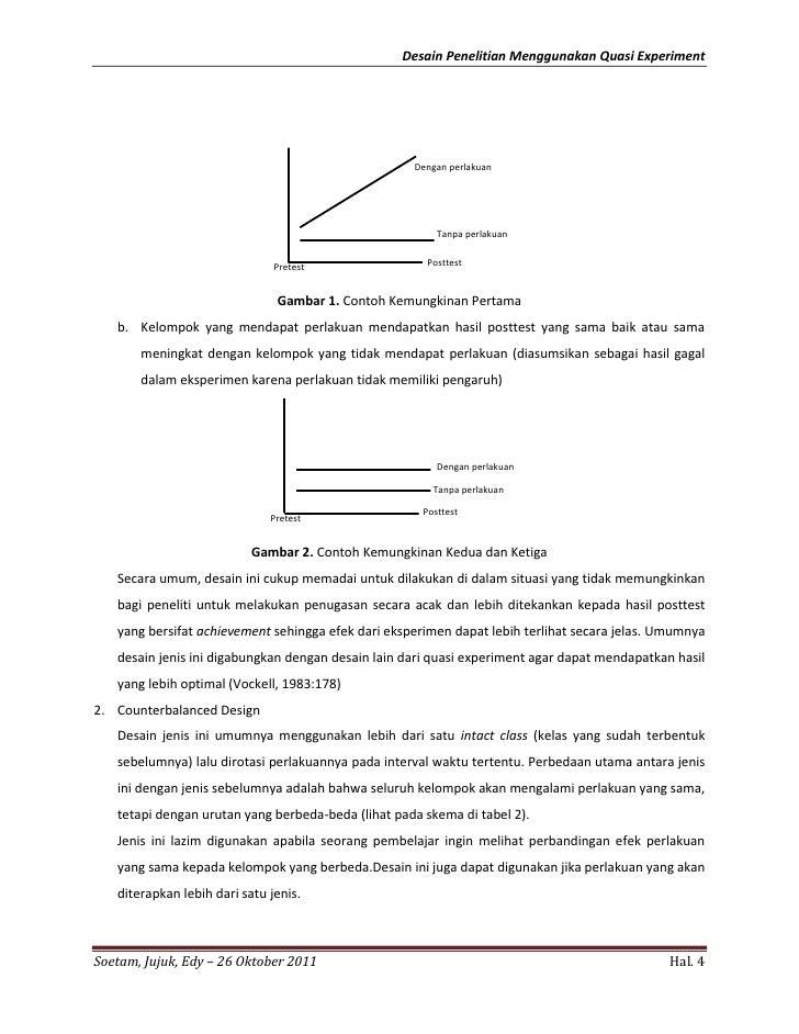 Contoh Skripsi Quasi Eksperimen Contoh Soal Dan Materi Pelajaran 2