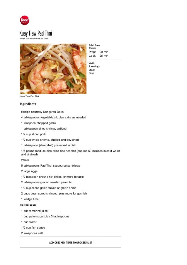 Kuay tiaw pad thai recipe food network recipe food network kuay tiaw pad thai kuay tiaw pad thai prep cook yield 2 servings forumfinder Image collections