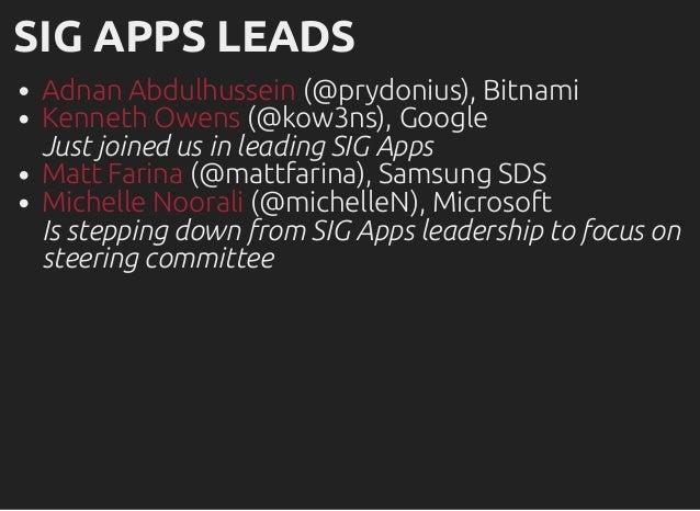 Kubecon SIG Apps December 2017 Update Slide 2