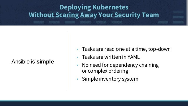 Deploying Kubernetes without scaring off your security team
