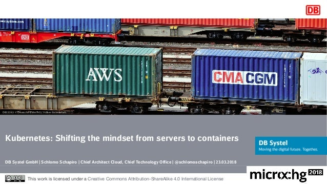Kubernetes: Shifting the mindset from servers to containers DB Systel GmbH | Schlomo Schapiro | Chief Architect Cloud, Chi...