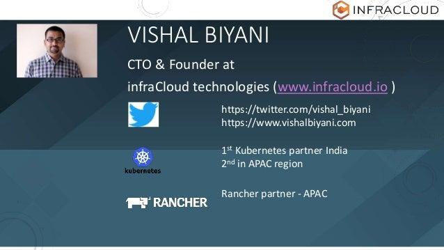 VISHAL BIYANI CTO & Founder at infraCloud technologies (www.infracloud.io ) https://twitter.com/vishal_biyani https://www....