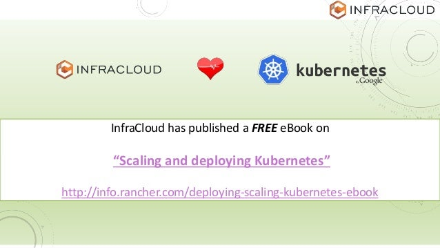 """InfraCloud has published a FREE eBook on """"Scaling and deploying Kubernetes"""" http://info.rancher.com/deploying-scaling-kube..."""