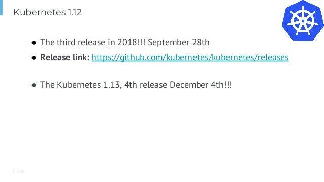 Kubernetes and Cloud Native Update Q4 2018
