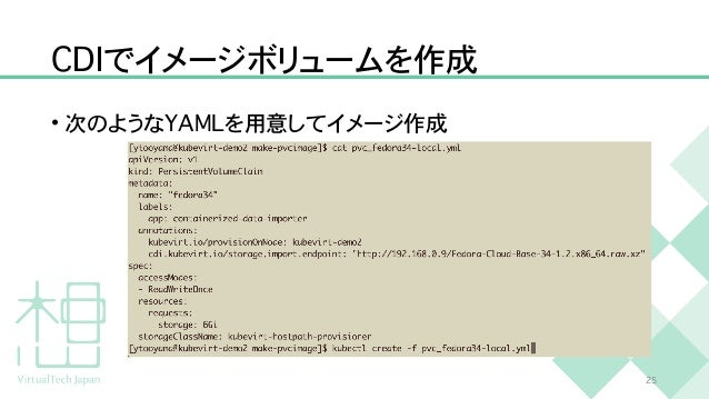 C D I でイメージボリュームを作成 • 次のような Y A M L を用意してイメージ作成 2 5