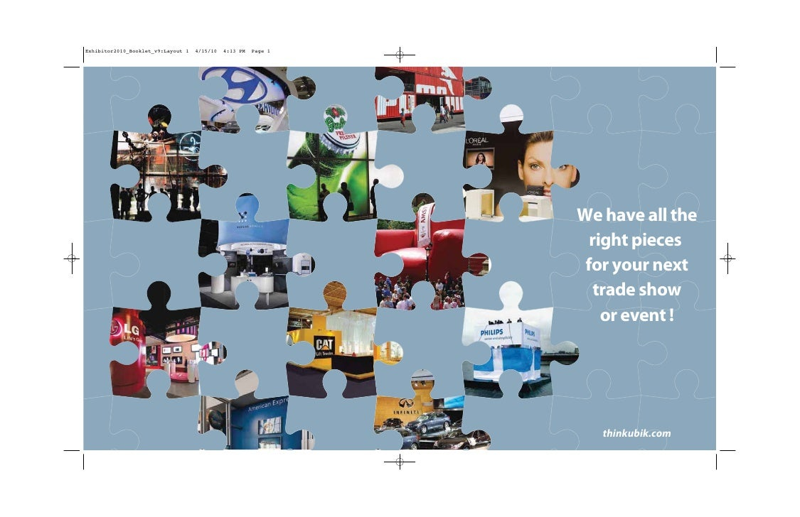 We have all the   right pieces  for your next    trade show     or event !        thinkubik.com