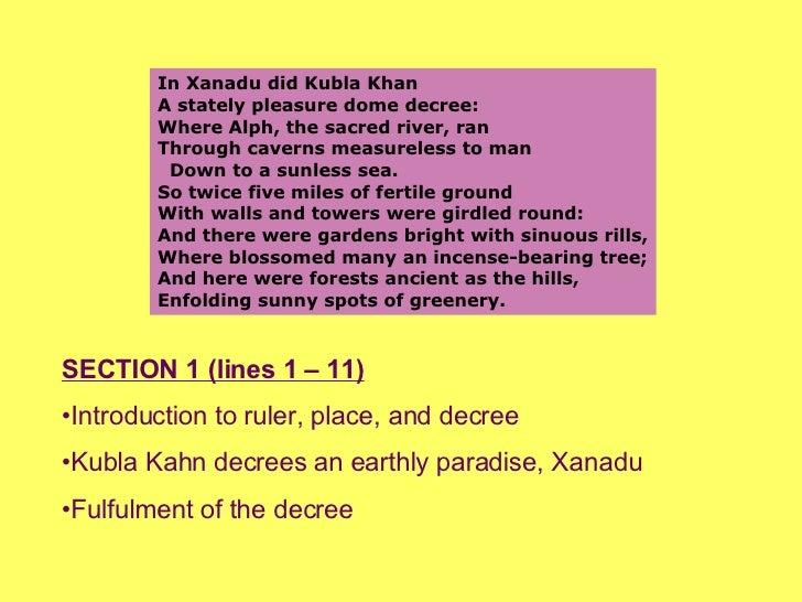 an analysis of samuel taylor coleridges poem kubla khan An analysis of kubla khan essays the poem kubla khan was written as  samuel taylor coleridge.