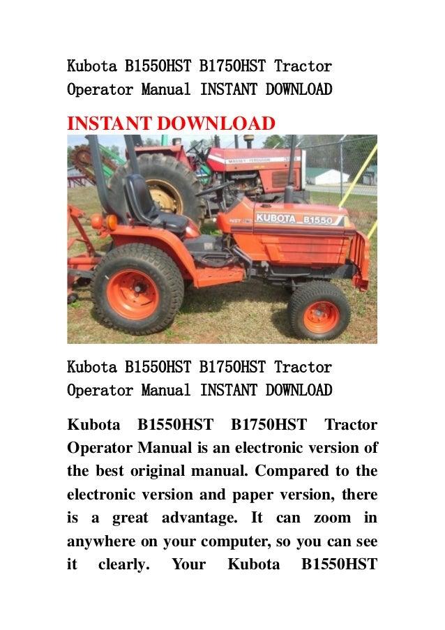 Kubota b1550 hst b1750hst tractor operator manual instant downloa on kubota b8200 wiring diagram, kubota b7500 wiring diagram, kubota b3030 wiring diagram, kubota b2400 wiring diagram, kubota b7800 wiring diagram,
