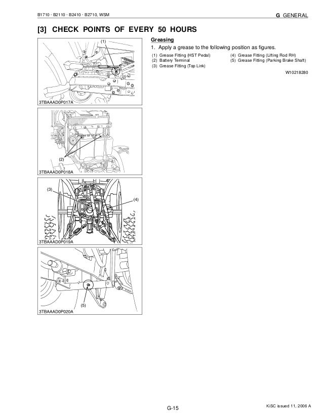 Kubota b2110 db tractor service repair manual
