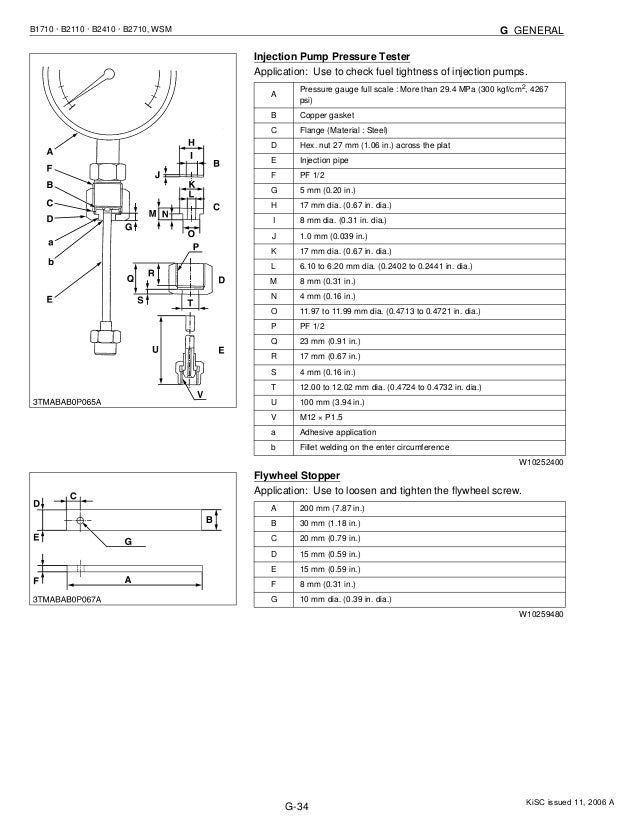 Kubota b2110 db tractor service repair manual