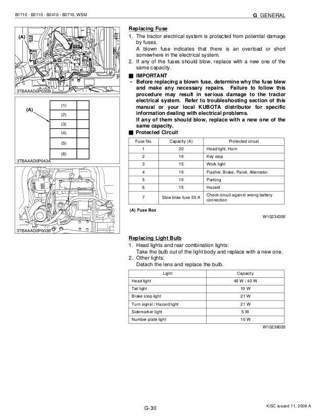 Kubota b2410 hdb tractor service repair manual