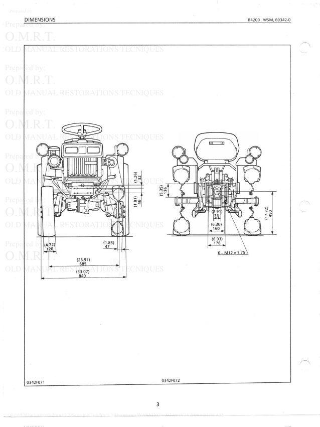 Kubota b4200 rc44 42 tractor service repair manual