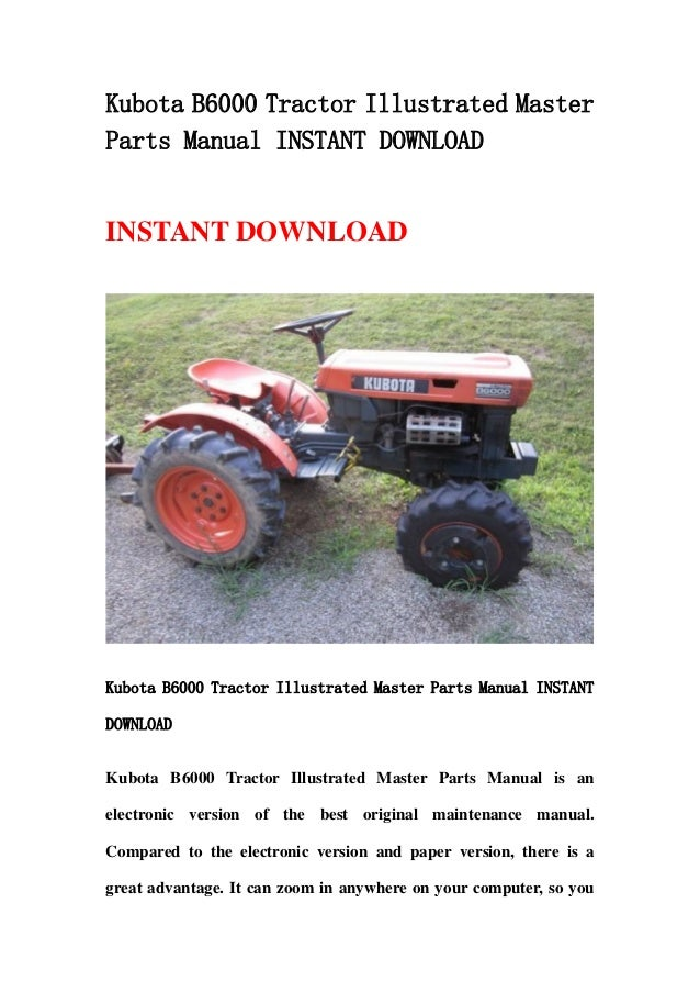 Free kubota Tractor manual Downloads