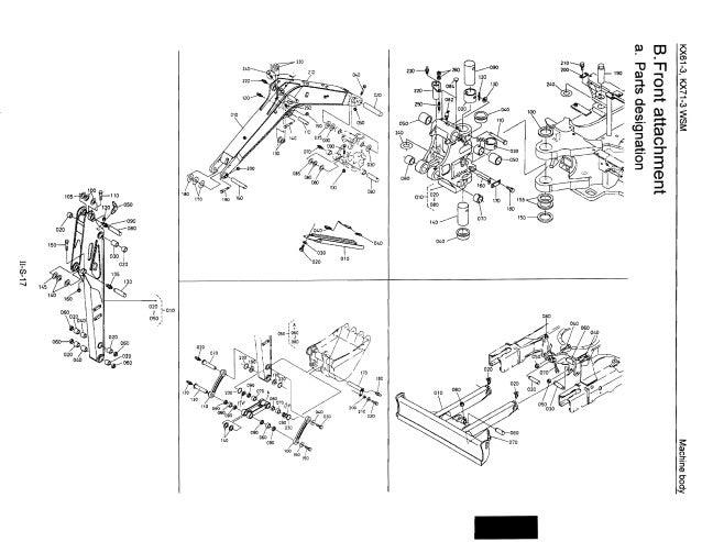 Kubota kx61 3 excavator service repair manual