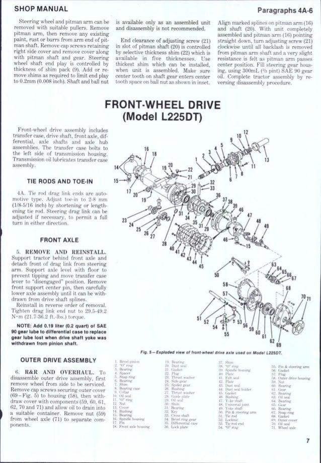 Kubota Pitman Arm : Kubota l tractor service repair manual