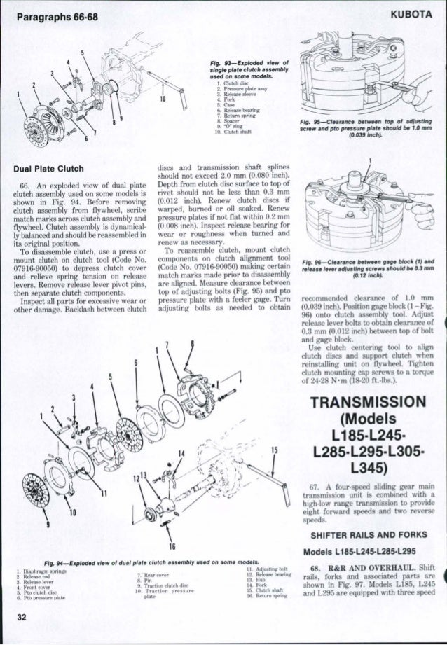kubota l175 owners manual