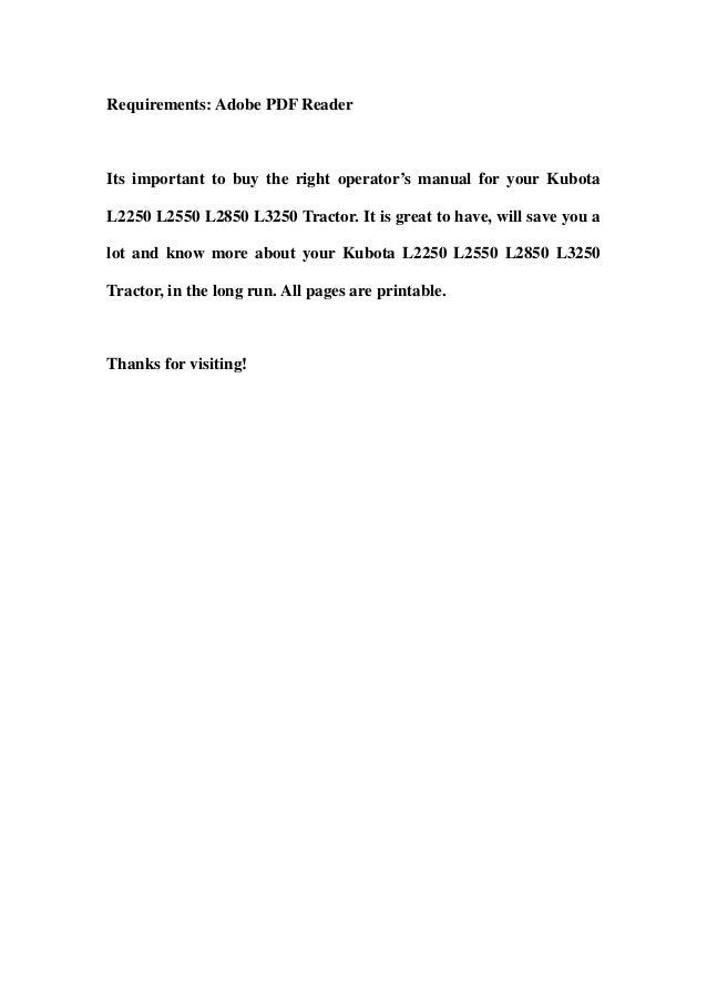 Kubota l2250 l2550 l2850 l3250 tractor operator manual download – Kubota L2950 Wiring Schematic