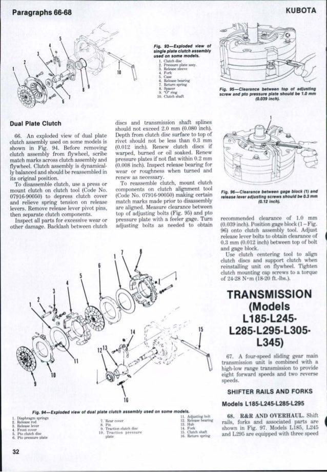 kubota l245 tractor service repair manualKubota L245 Engine Diagram #17