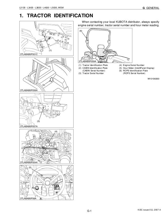 Kubota l3130 tractor service repair manual