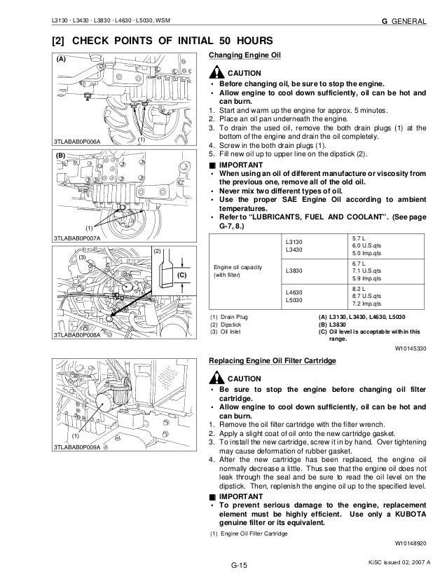 Kubota l3130 tractor service repair manual