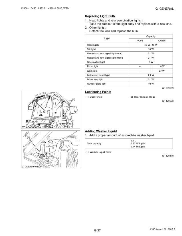 Fine Kubota L3830 Tractor Service Repair Manual Wiring Database Ioscogelartorg