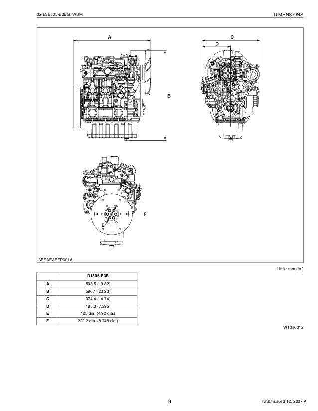 kubota v1505 e3 bg diesel engine service repair manual