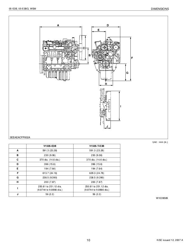 Kubota v1505 t-e3 b diesel engine service repair manual