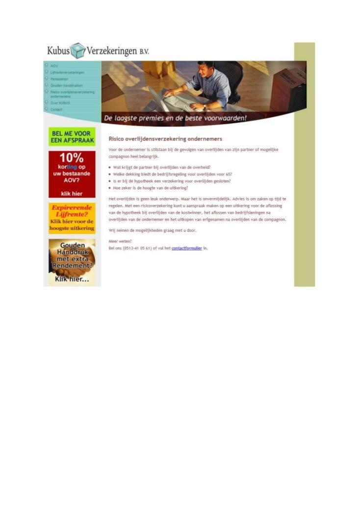 TGJ Communicatie Kubus Verzekeringen webdesign en webteksten