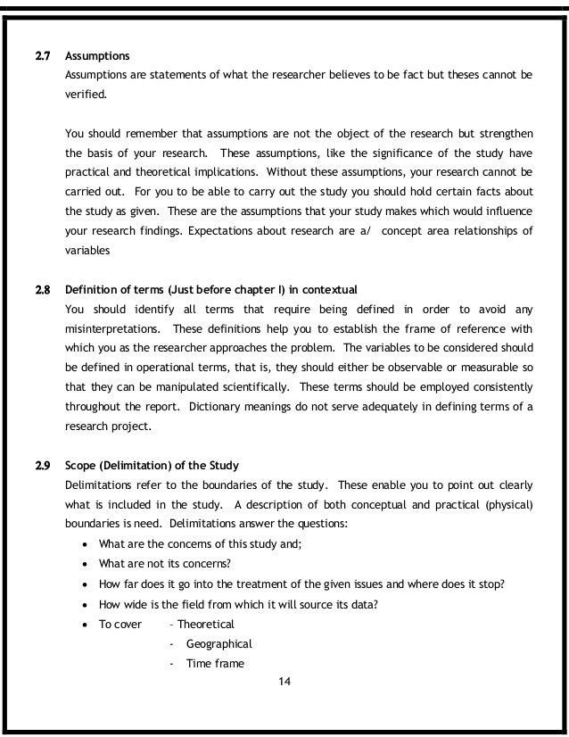 Assumptions section of dissertation custom philosophy paper