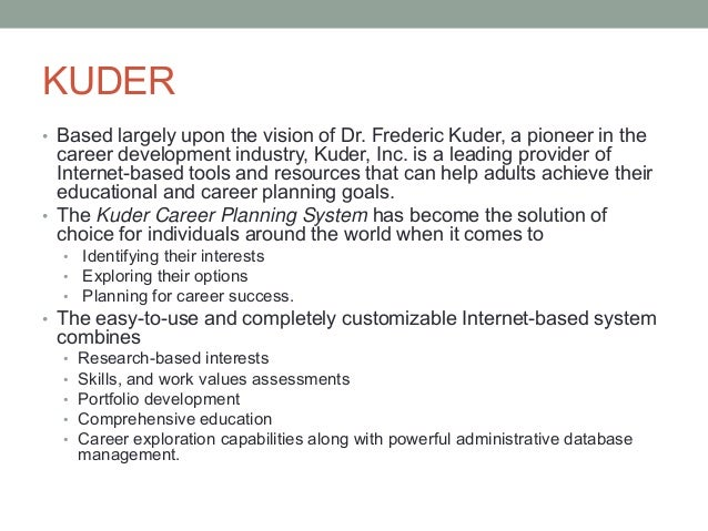 kuder career assessment