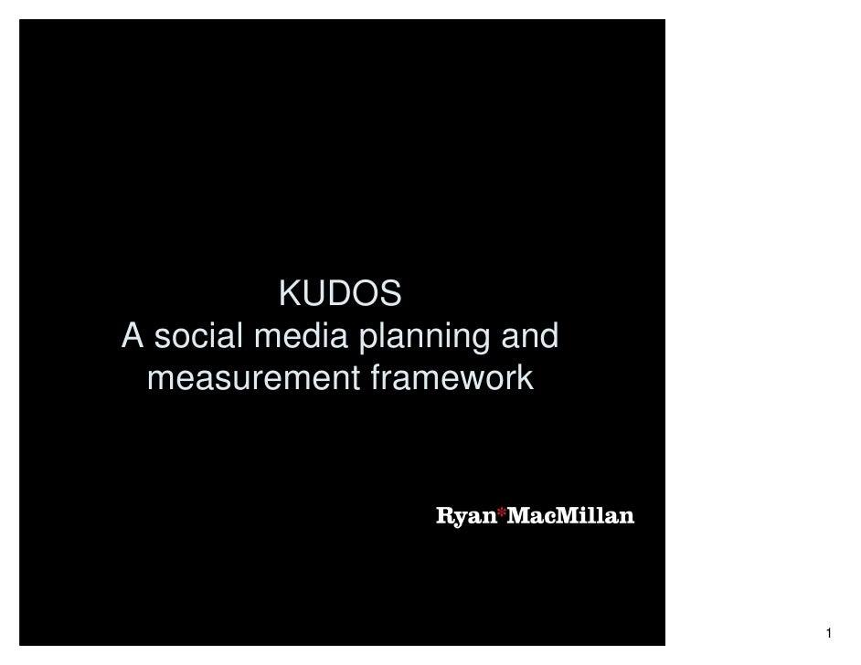 KUDOS A social media planning and  measurement framework                                   1