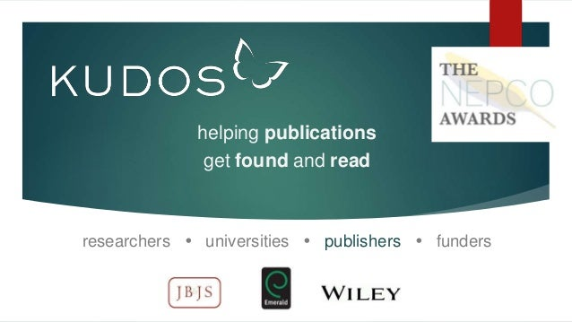 helping publications get found and read researchers  universities  publishers  funders