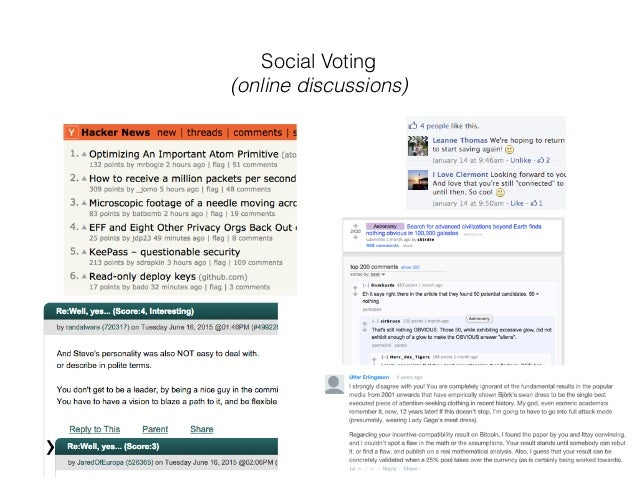 Social Voting (online discussions)