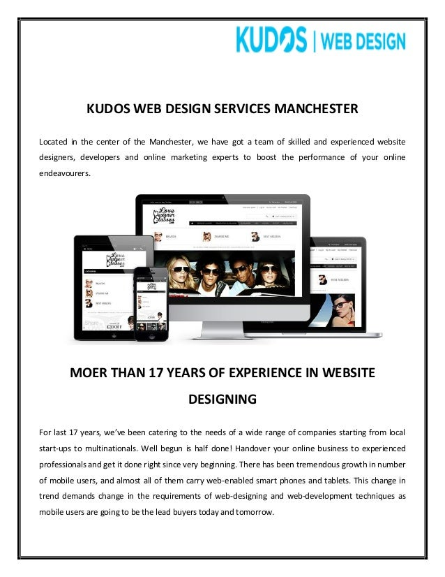Kudos ecommerce web design manchester for Design manchester