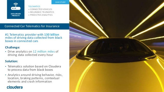 28© Cloudera, Inc. All rights reserved. #1 Telematics provider with 130 billion miles of driving data collected from black...